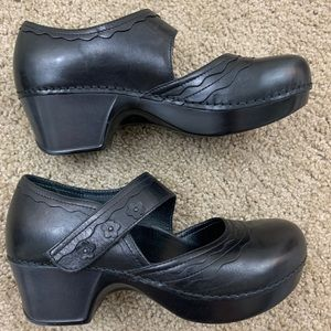 Dansko Harlow Black Mary Jane Clogs